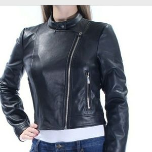 Bar III Black Moto Jacket